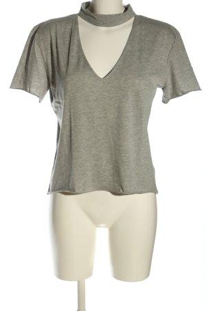 Nakd T-shirt grigio chiaro puntinato stile casual