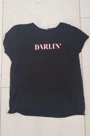 Nakd T-Shirt black-rose-gold-coloured