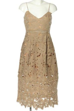 Nakd Pinafore dress brown flower pattern elegant