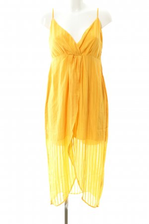 Nakd Pinafore dress gold orange simple style