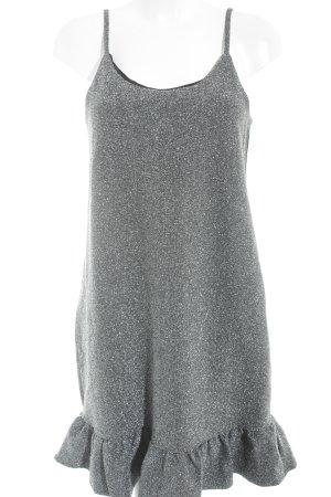 Nakd Pinafore dress black-silver-colored flecked elegant