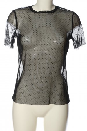 Nakd Transparent Blouse black allover print extravagant style