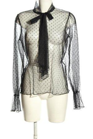 Nakd Transparent Blouse black allover print elegant