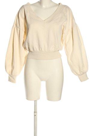 Nakd V-Ausschnitt-Pullover creme Casual-Look