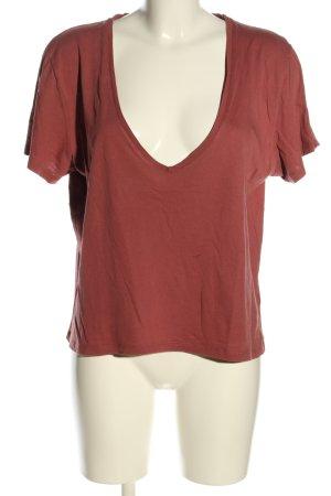 Nakd V-Ausschnitt-Shirt rot Casual-Look