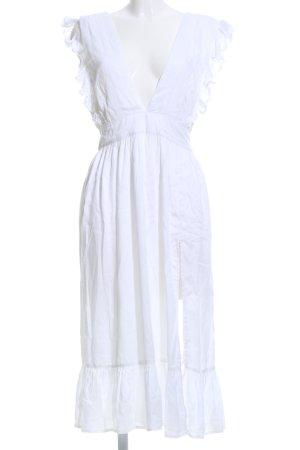 Nakd Flounce Dress white casual look