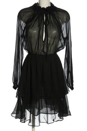 Nakd Volantkleid schwarz Elegant