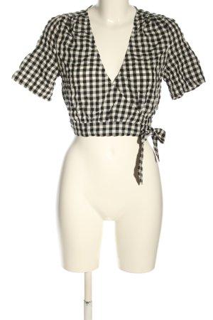Nakd Kopertowa bluzka czarny-w kolorze białej wełny Na całej powierzchni