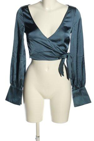 Nakd Wickel-Bluse blau Elegant