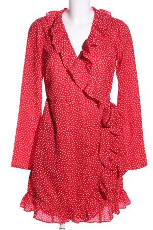 Nakd Wikkeljurk rood-wit gestippeld patroon elegant