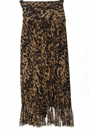 Nakd Wraparound Skirt brown-black leopard pattern casual look