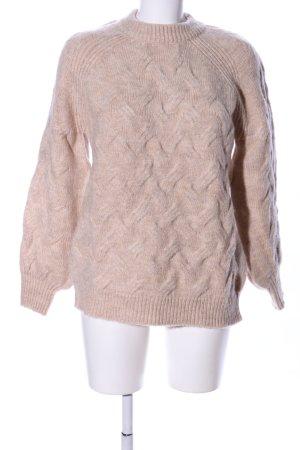 Nakd Warkoczowy sweter różowy Wzór w paski W stylu casual
