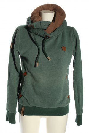Nakecano Kapuzensweatshirt grün-bronzefarben meliert Casual-Look