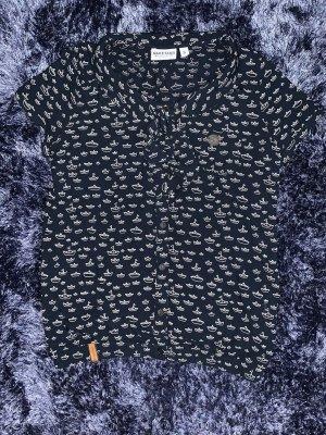 Naketano Blusen Shirt mit Schiffchen Muster
