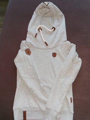 Naketano Pull à capuche gris clair
