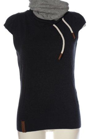 Naketano Sweter bez rękawów z cienkiej dzianiny niebieski-jasnoszary
