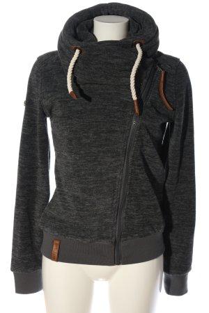 Naketano Fleece Jackets light grey flecked casual look
