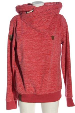 Naketano Bluza dresowa czerwony Melanżowy W stylu casual