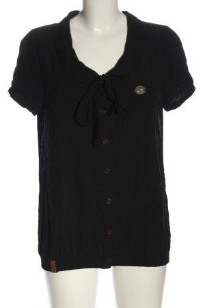 Naketano Hemd-Bluse schwarz Casual-Look