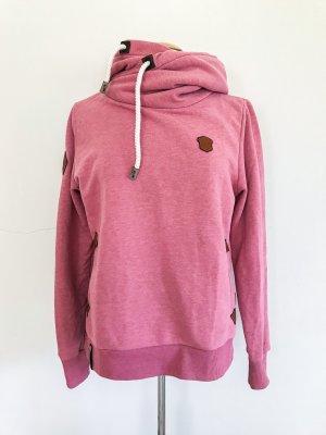 Naketano Hoodie, Kapuzenpulli, Farbe pink melange, Gr. 38 / M