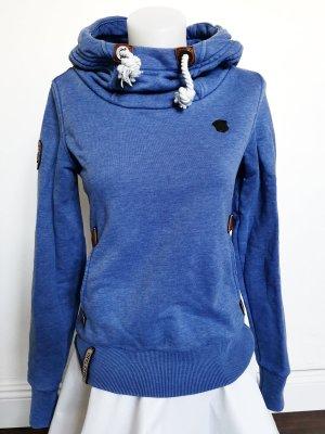 Naketano Pull à capuche bleu acier-bleuet