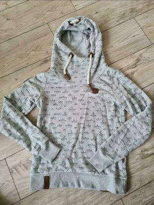 Naketano Hoodie Sweater Pulli Pullover M grau Boote