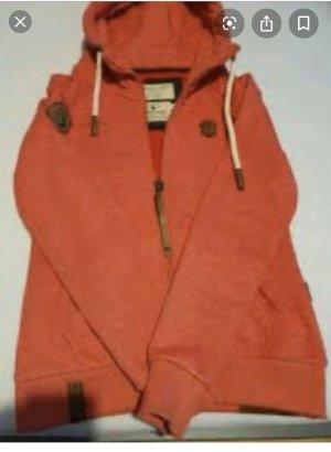 Naketano Chaqueta de tela de sudadera rojo ladrillo-rosa