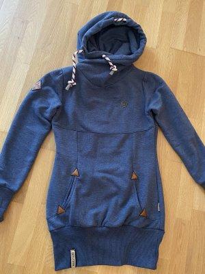 Naketano Maglione con cappuccio grigio ardesia-blu scuro