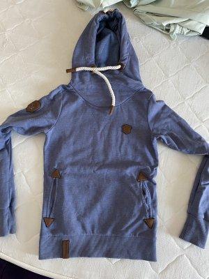 Naketano Maglione con cappuccio blu acciaio-grigio ardesia