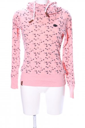 Naketano Jersey con capucha rosa-negro look casual