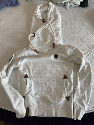 Naketano Maglione con cappuccio bianco