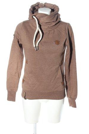 Naketano Jersey con capucha marrón moteado look casual