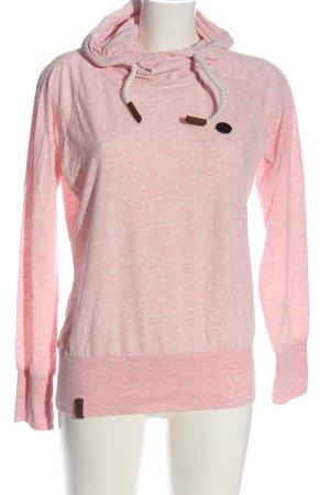 Naketano Top à capuche rose moucheté style décontracté