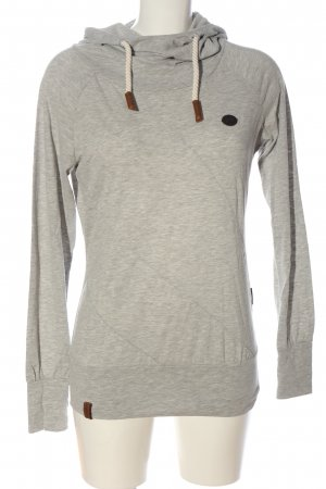 Naketano Camicia con cappuccio grigio chiaro puntinato stile casual