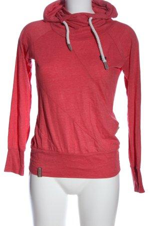 Naketano Hooded Shirt pink casual look