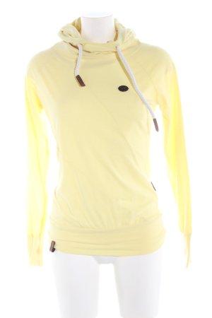 Naketano Kapuzensweatshirt blassgelb Casual-Look