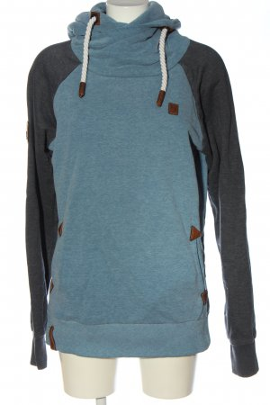 Naketano Kapuzensweatshirt blau meliert Casual-Look