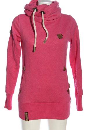 Naketano Sweatshirt pink meliert Casual-Look