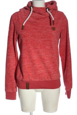 Naketano Bluza z kapturem czerwony Melanżowy W stylu casual