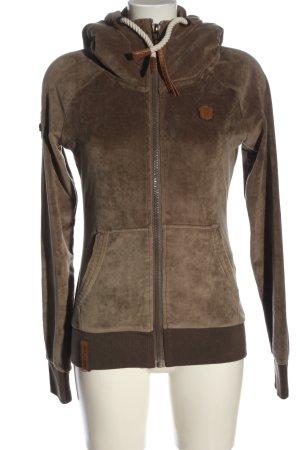 Naketano Sweatshirt met capuchon bruin casual uitstraling