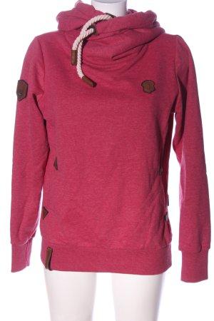 Naketano Bluza z kapturem różowy Melanżowy W stylu casual