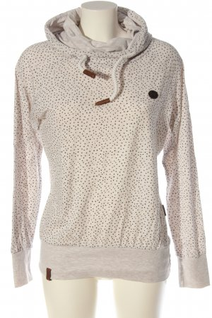 Naketano Hooded Sweatshirt natural white-black allover print casual look