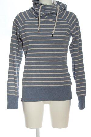 Naketano Kapuzensweatshirt blau-wollweiß meliert Casual-Look