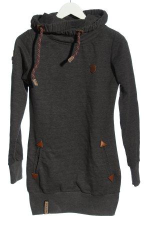 Naketano Felpa con cappuccio grigio chiaro stile semplice