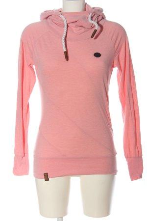 Naketano Felpa con cappuccio rosa puntinato stile casual