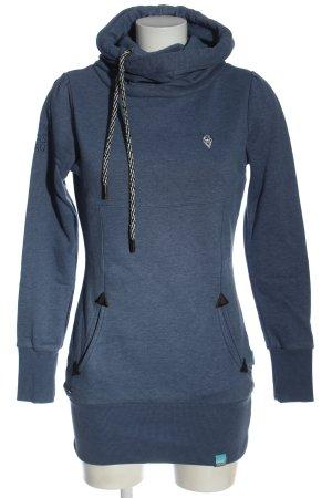 Naketano Bluza z kapturem niebieski W stylu casual