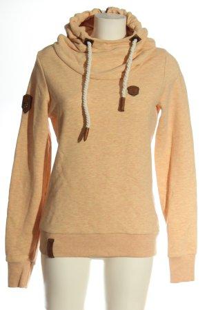 Naketano Hooded Sweatshirt light orange flecked casual look