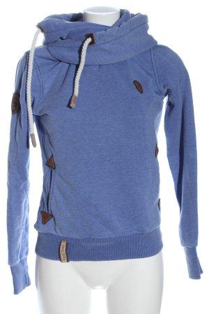 Naketano Bluza z kapturem niebieski Melanżowy W stylu casual