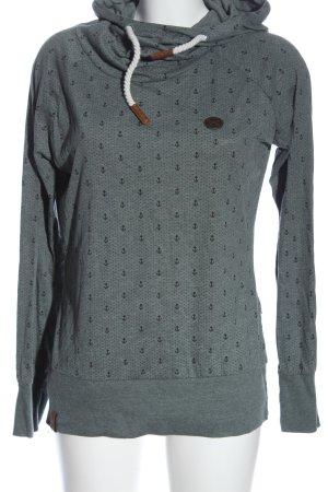 Naketano Kapuzensweatshirt türkis-schwarz Motivdruck Casual-Look