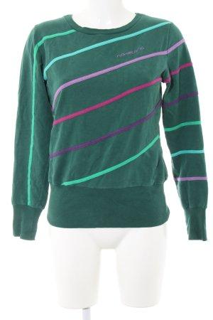 Naketano Sweatshirt grün-lila Schriftzug gestickt Casual-Look
